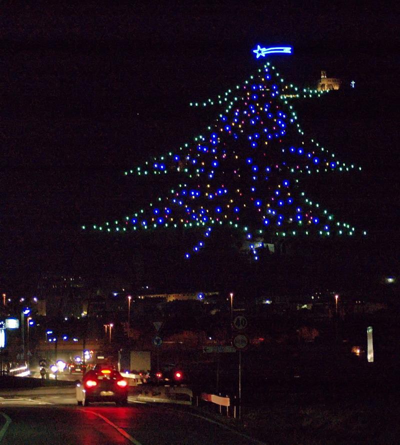 The Christmas tree at Gubbio